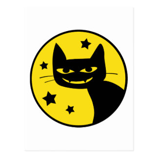 Spooky Cat Postcard