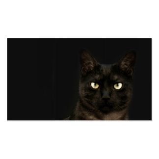 spooky cat profile card Double-Sided standard business cards (Pack of 100)