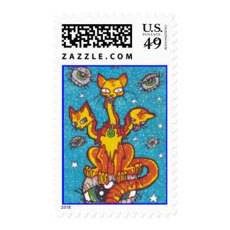 spooky cat stamps