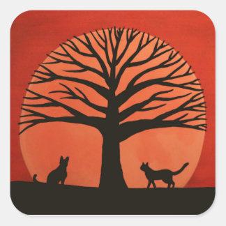 Spooky Cat Stickers