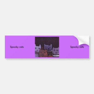 Spooky cats car bumper sticker