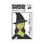Spooky Chic Witch Happy Halloween Postage Stamp
