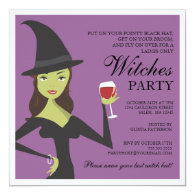 Pretty Sexy and Chic Witch Halloween Invitation