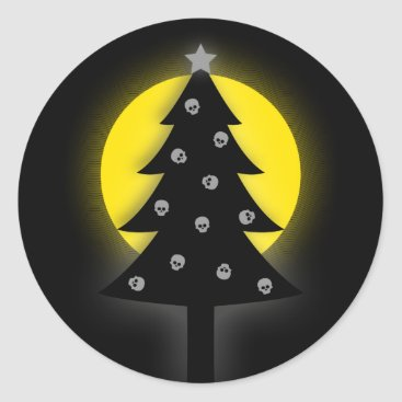 maydaze Spooky Christmas Tree Classic Round Sticker