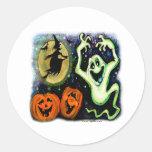 Spooky Classic Round Sticker