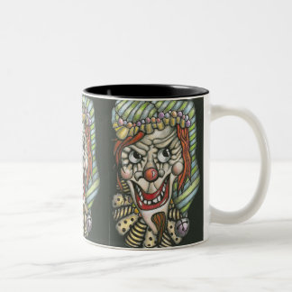 Spooky Clown Black Mug