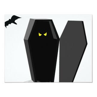 Spooky Coffin 4.25x5.5 Paper Invitation Card