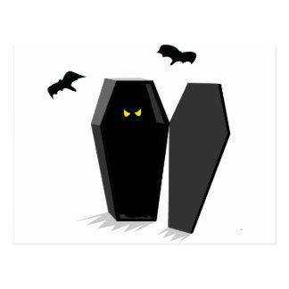 Spooky Coffin Postcard