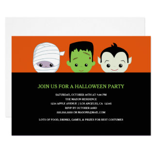 Spooky Costumes Card