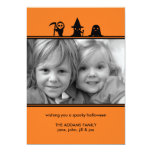 Spooky Costumes Halloween Photo Card Personalized Announcements