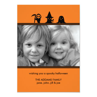 "Spooky Costumes Halloween Photo Card 5"" X 7"" Invitation Card"