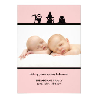Spooky Costumes Halloween Photo Card Personalized Invites