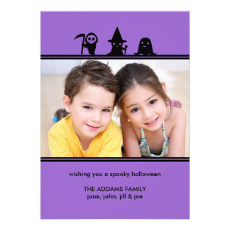 Spooky Costumes Halloween Photo Card Invite