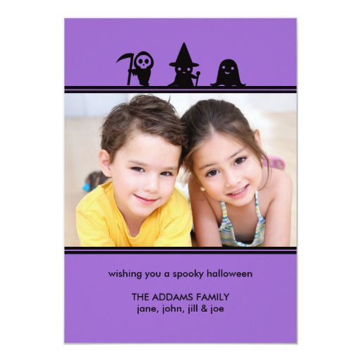 Spooky Costumes Halloween Photo Card Invite