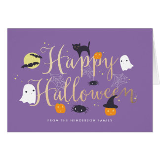 Spooky Critters Halloween Greeting Card