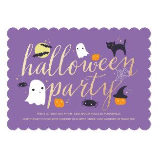 Spooky Critters Halloween Invite