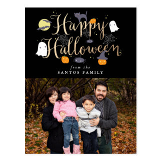 Spooky Critters Halloween Photo Postcard