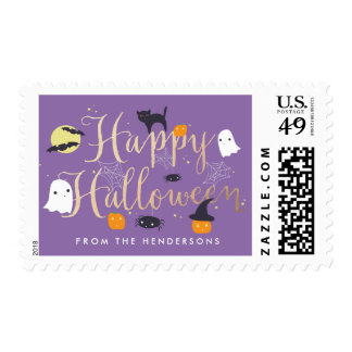 Spooky Critters Halloween Postage