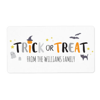 Spooky Critters Label