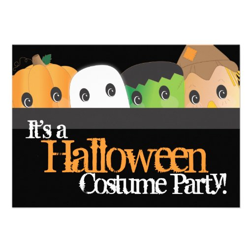 Spooky Cute Halloween Costume Party Custom Invite