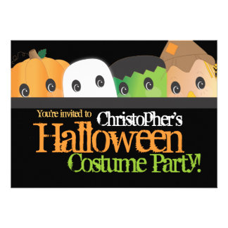 Spooky Cute Halloween Costume Party Personalized Announcements