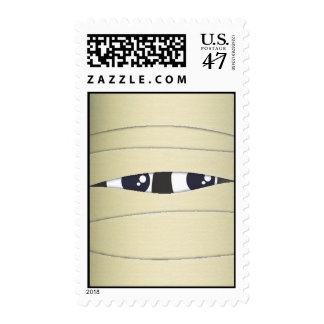 Spooky Cute Mummy Face Halloween Stamp