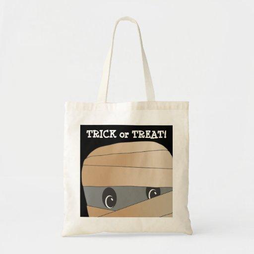 Spooky Cute Mummy Head Trick or Treat Bag