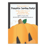 Spooky Cute Pumpkin Carving Halloween Party 5x7 Paper Invitation Card