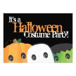 Spooky Cute Pumpkin Ghost Halloween Costume Party Invitations