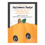 Spooky Cute Pumpkin Head Halloween Party Announcements