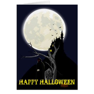 Spooky Cutomizable Halloween Greetings Card