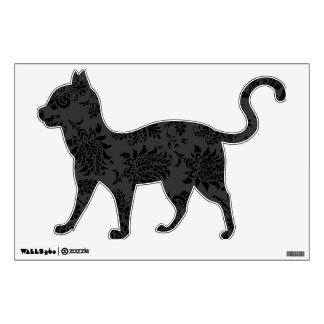 Spooky Damask Cat Wall Sticker