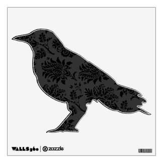 Spooky Damask Crow Wall Decal
