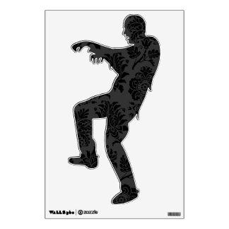 Spooky Damask Zombie Wall Sticker