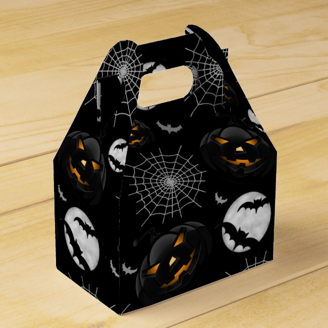 Spooky Dark Halloween Pattern Favor Box