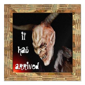 Spooky Demon Halloween Has Arrived Invitation