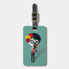 Spooky Dia De Los Muertos Girl Bag Tag at Zazzle