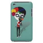 Spooky Dia de Los Muertos Girl iPod Case-Mate Protectores