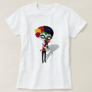 Spooky Dia de Los Muertos Girl Remeras