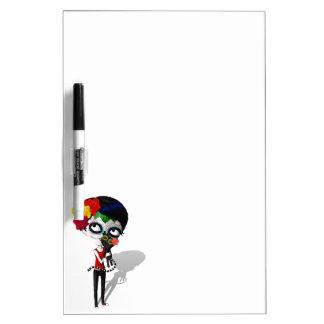 Spooky Dia de Los Muertos Girl Tablero Blanco