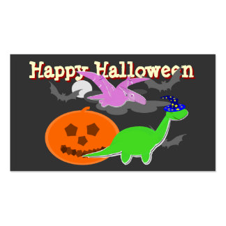Spooky Dinosaurs Happy Halloween Cards Double-Sided Standard Business Cards (Pack Of 100)