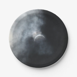 Spooky Eclipse Storm Clouds 2017 Paper Plate
