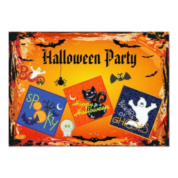 GroovyGraphics Spooky Embroidery Patches Halloween Party Invites