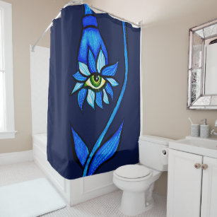Blue Eyes Shower Curtains