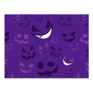 Spooky Faces Postcard