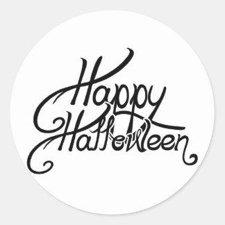 Spooky Festive Happy Halloween Classic Round Sticker