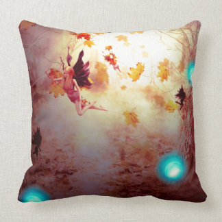 Spooky Forest and Fairy2 Throw Pillow