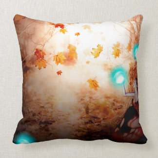 Spooky Forest and Fairy Throw Pillow