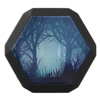Spooky forest. black bluetooth speaker