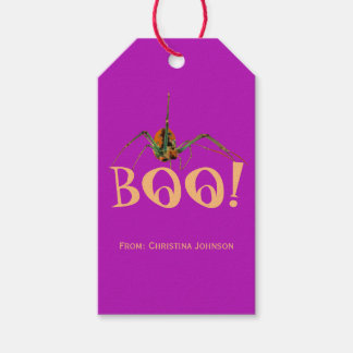 Spooky Fun Creepy Spider Halloween Party Favors Gift Tags